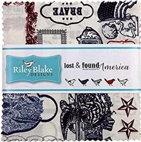Riley Blake - Lost & Found America 5 inch Stacker 42 pcs