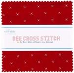 Riley Blake - Bee Cross Stitch 5 inch Stacker 42 pcs