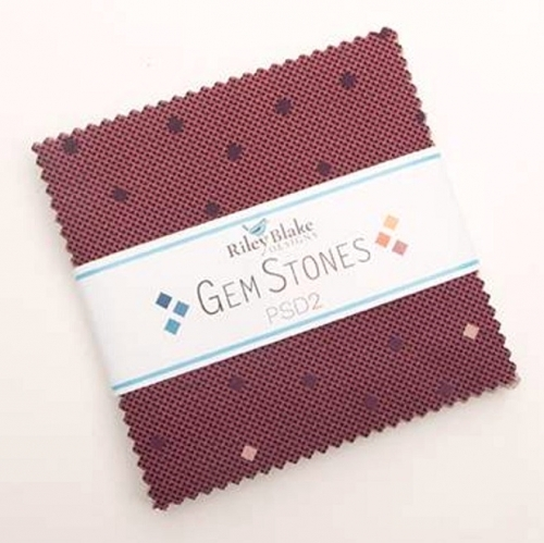 Riley Blake - Gem Stones Collection 5 Inch Stacker 42 pcs
