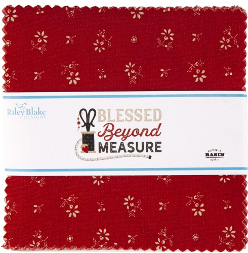 Riley Blake - Blessed Beyond Measure 5 Inch Stacker 42 pcs
