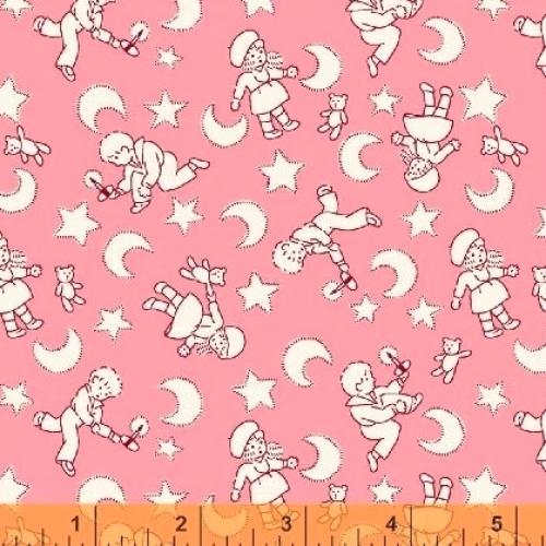 WINDHAM FABRICS - Sleepy Time Kids - Pink - FB7330