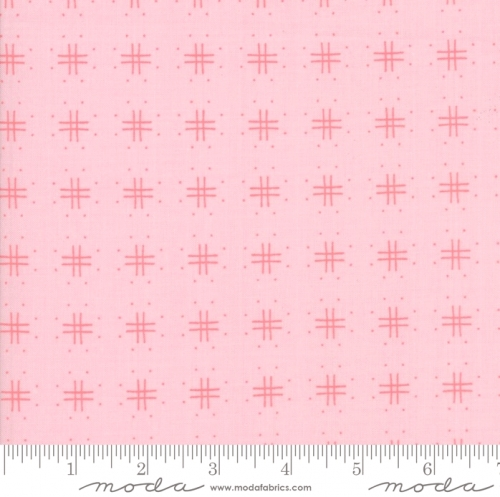 Skinny - SK1880- 3/4 yds - MODA FABRICS - Lollipop Garden - Crosshatch Pinkberry