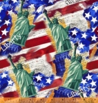 WINDHAM FABRICS - LADY LIBERTY - Whistler Studios - Main Print - Multi