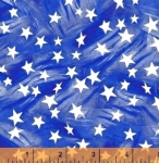 WINDHAM FABRICS - LADY LIBERTY - Whistler Studios - Mini Stars - Blue