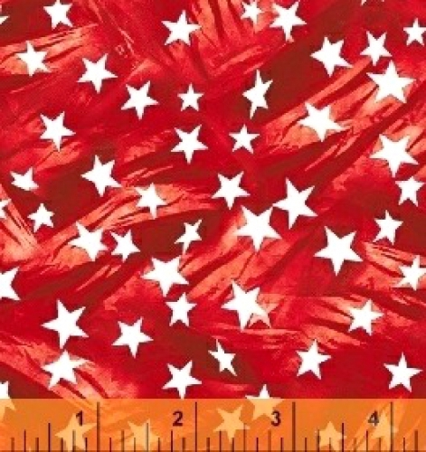 WINDHAM FABRICS - LADY LIBERTY - Whistler Studios - Mini Stars - Red