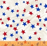 WINDHAM FABRICS - LADY LIBERTY - Whistler Studios - Mini Stars - Cream