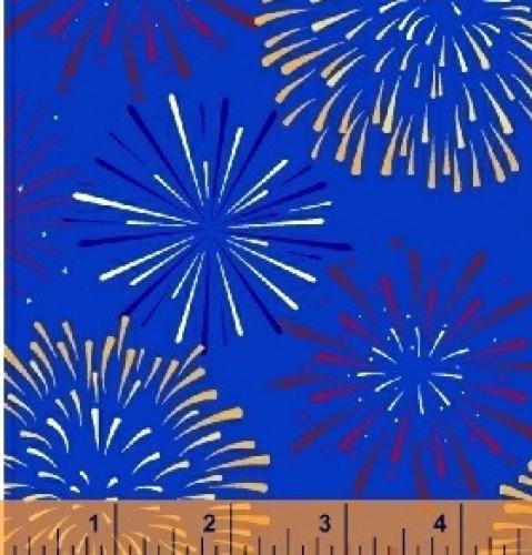 WINDHAM FABRICS - LADY LIBERTY - Whistler Studios - Fireworks - Blue