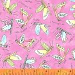 WINDHAM FABRICS - Potpourri - Laura Heine -  Flying Critters - Peony