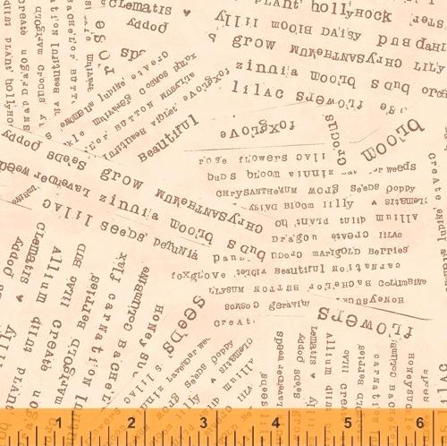 WINDHAM FABRICS - Potpourri - Laura Heine - Word Collage - Apricot