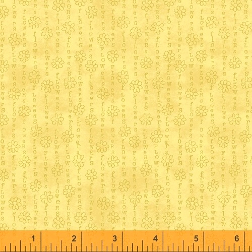 WINDHAM FABRICS - Potpourri - Laura Heine - Flower Stripe - Sunshine