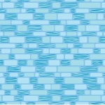 BENARTEX - Contempo - Free Motion Fantasy - Bricks Sky Blue - #1578-