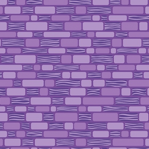 BENARTEX - Contempo - Free Motion Fantasy - Purple Brick