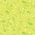 BENARTEX - Contempo - Free Motion Fantasy - Paisley Lime - #1591-