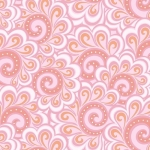 BENARTEX - Contempo - Free Motion Fantasy - Swirl Feather Pink