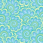 BENARTEX - Contempo - Free Motion Fantasy - Swirl Feather Aqua