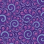BENARTEX - Contempo - Free Motion Fantasy - Swirl Feather Purple