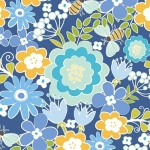 BENARTEX - Contempo - Front Porch -  Summer Floral Blue - #1530-
