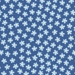 BENARTEX - Contempo - Front Porch -  Mini Floral Blue - #1502-
