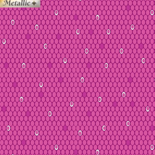 BENARTEX - Jubilee Silver - Ovals Magenta