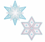 Accuquilt Die 55093 Sparkle-Snowflakes by Sarah Vedeler