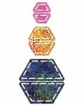 Accuquilt Die GO! 55165 Half Hexagon 1 inch, 1.5 inch, 2.5 inch