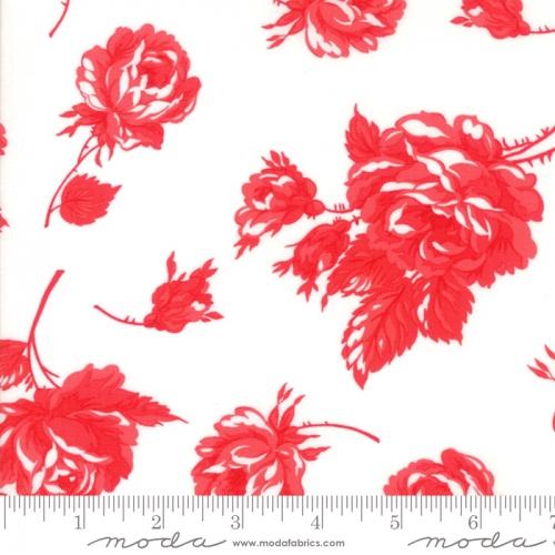 MODA FABRICS - Smitten - Bonnie & Camille - Rosy - Cream Red