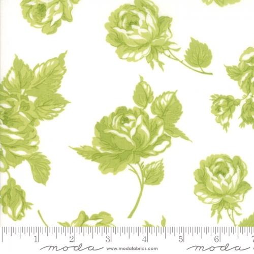 MODA FABRICS - Smitten - Bonnie & Camille - Rosy - Cream Green