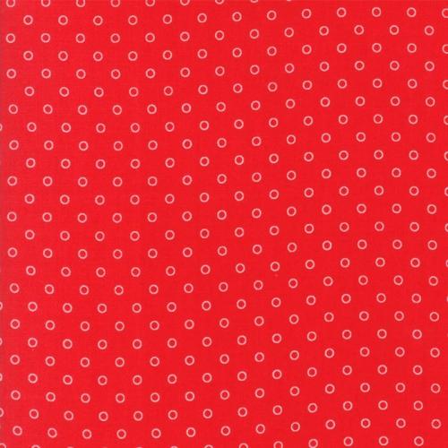 MODA FABRICS - Smitten - Bonnie & Camille - Little Darling Dot - Red