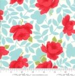 MODA FABRICS - Little Snippets - Roses Aqua