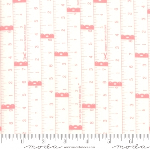 MODA FABRICS - Little Snippets - Measuring Tape Pink