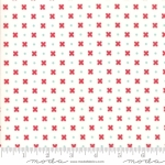 MODA FABRICS - Little Snippets - Flowers & Dots White - #2565-