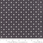 MODA FABRICS - Little Snippets - Flowers & Dots Graphite