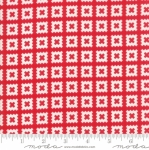 MODA FABRICS - Little Snippets - Pinked Squares Red/White