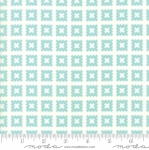MODA FABRICS - Little Snippets - Pinked Squares Aqua/White
