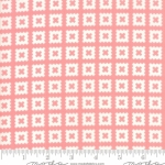 MODA FABRICS - Little Snippets - Pinked Squares Pink/White
