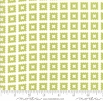 MODA FABRICS - Little Snippets - Pinked Squares - #2555- Green/White