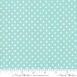 MODA FABRICS - Little Snippets - Polka Dots Aqua