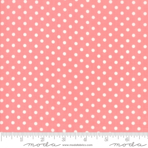 MODA FABRICS - Little Snippets - Polka Dots Pink