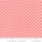 MODA FABRICS - Little Snippets - Polka Dots Pink