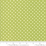 MODA FABRICS - Little Snippets - Polka Dots Green