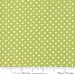 MODA FABRICS - Little Snippets - Polka Dots Green