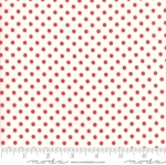 MODA FABRICS - Little Snippets - Polka Dots Red