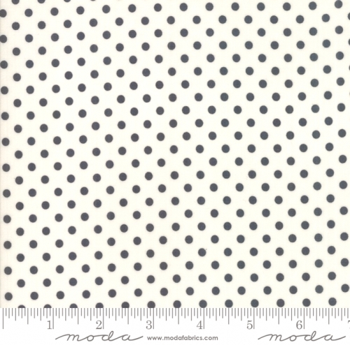 MODA FABRICS - Little Snippets - Polka Dots Graphite