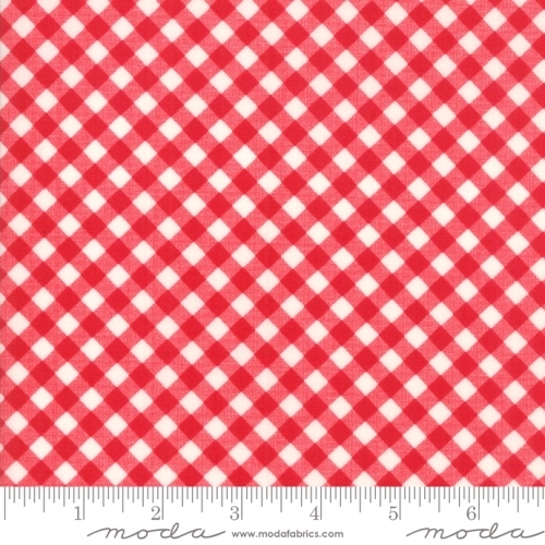 MODA FABRICS - Little Snippets - Gingham Red