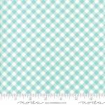 MODA FABRICS - Little Snippets - Gingham Aqua