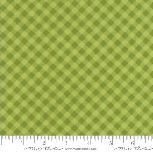 MODA FABRICS - Little Snippets - Gingham Green/Green