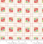 MODA FABRICS - Little Snippets - Floral Lattice White