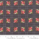 MODA FABRICS - Little Snippets - Floral Lattice Graphite - #2563-