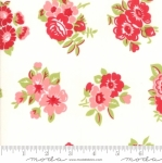 MODA FABRICS - Little Snippets - Bouquet White