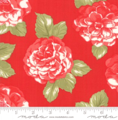 MODA FABRICS - Early Bird Blooms - Red
